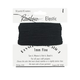 Rainbow Elastic 1mm Fine - 01 Black