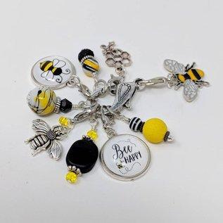 Three by the Sea Designs Stitch Marker K5 (8 ea) - Bee Happy