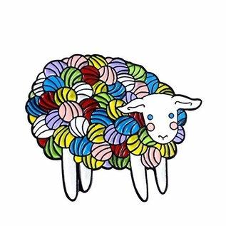 Three by the Sea Designs Enamel Pin - Yarn Sheep