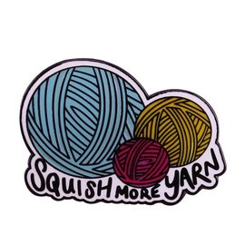 Three by the Sea Designs Enamel Pin - Squish More Yarn