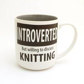 Lenny Mud Introverted Knitter Mug