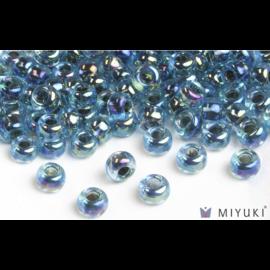 Miyuki Miyuki 6/0 Glass Beads - 339 Blue Lined Aqua AB