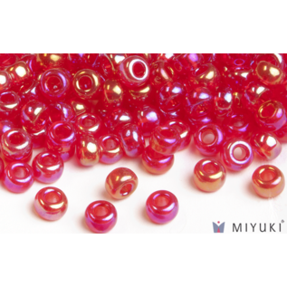 Miyuki Miyuki 8/0 Glass Beads - 254 Transparent Red AB