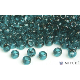 Miyuki Miyuki 8/0 Glass Beads - 2406 Trans Dark Teal