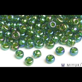 Miyuki Miyuki 6/0 Glass Beads - 354 Chartreuse-lined Green AB