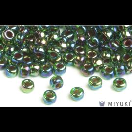 Miyuki Miyuki 6/0 Glass Beads - 344 Cobalt Lined Green AB