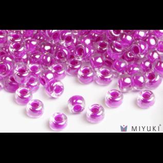 Miyuki Miyuki 6/0 Glass Beads - 209 Fuchsia Lined Crystal AB