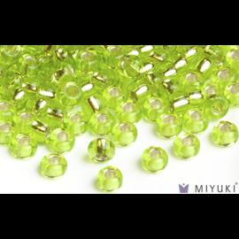 Miyuki Miyuki 6/0 Glass Beads - 14 Silverlined Chartreuse