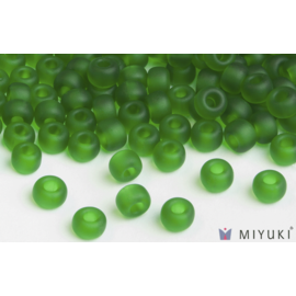 Miyuki Miyuki 6/0 Glass Beads - 146F Transparent  Frost Grass Green