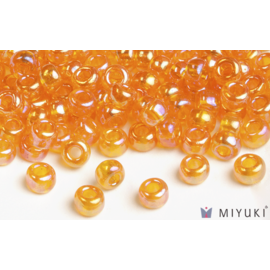 Miyuki Miyuki 6/0 Glass Beads - 2460 Transparent Orange AB