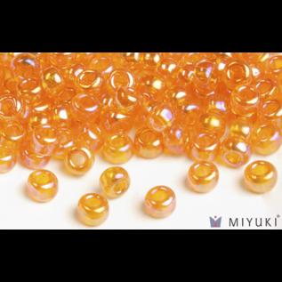Miyuki Miyuki 6/0 Glass Beads - 2460 Transparent Orange AB