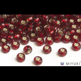 Miyuki Miyuki 6/0 Glass Beads - 11 Silverlined Ruby