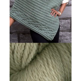 Cabled Edge Poncho - Oatmeal Heather Kit