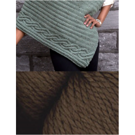 Cabled Edge Poncho - Chocolate Kit