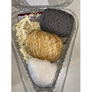 Beet Street Yarn Co. Silk 3-Ways Scarf Kit - Partly Cloudy
