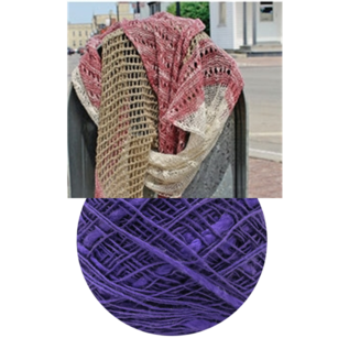 Beet Street Yarn Co. Unbeetable Scarf Kit - Night - 03 Elderberry