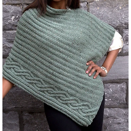 Plymouth Cabled Edge Poncho