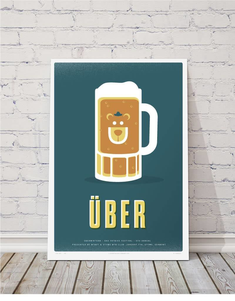 MTBVT Limited Edition Digital Print 13x9 Uber Beer Mug