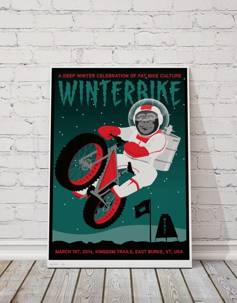 MTBVT Limited Edition Digital Print 13x9 Winterbike Space Monkey