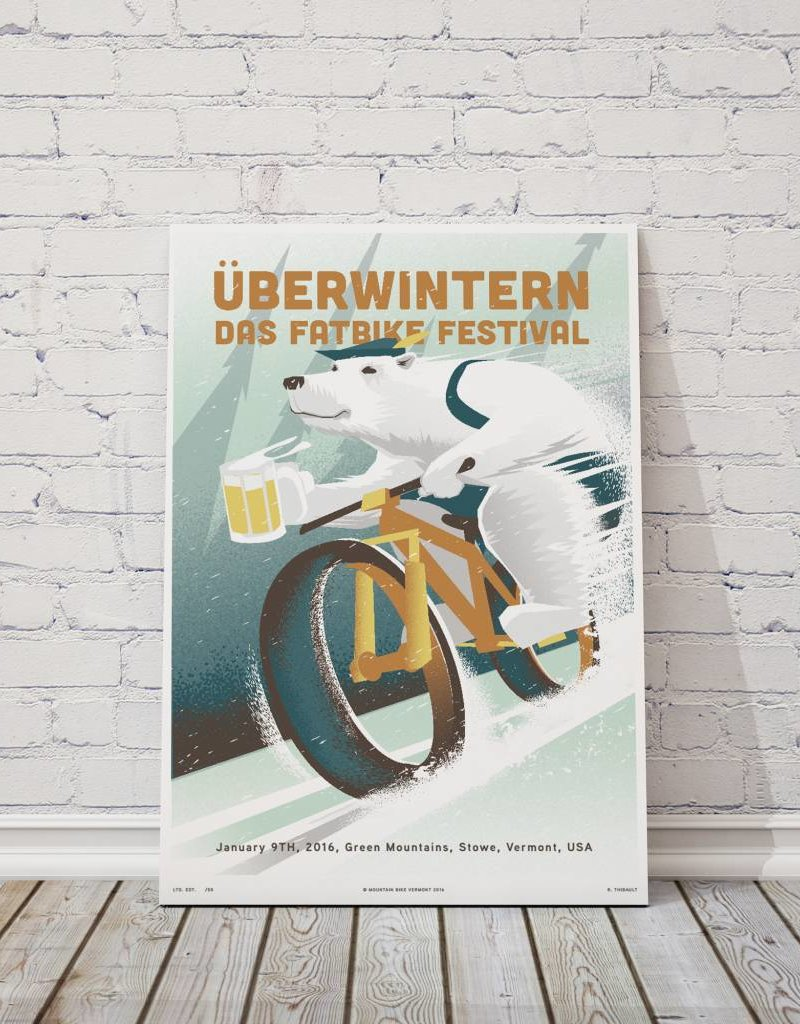 MTBVT Limited Edition Digital Print 13x9 Uberwintern Angular Bear