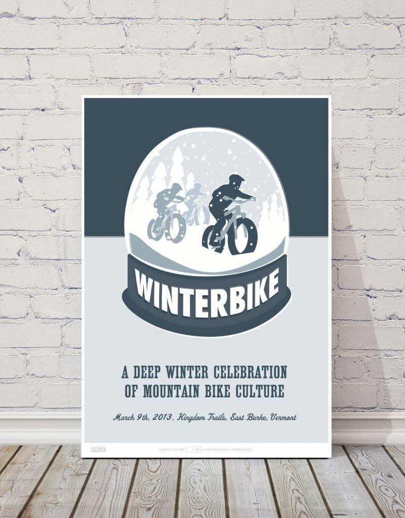 MTBVT MTBVT Limited Edition Digital Print 13x9 Winterbike Wonderland