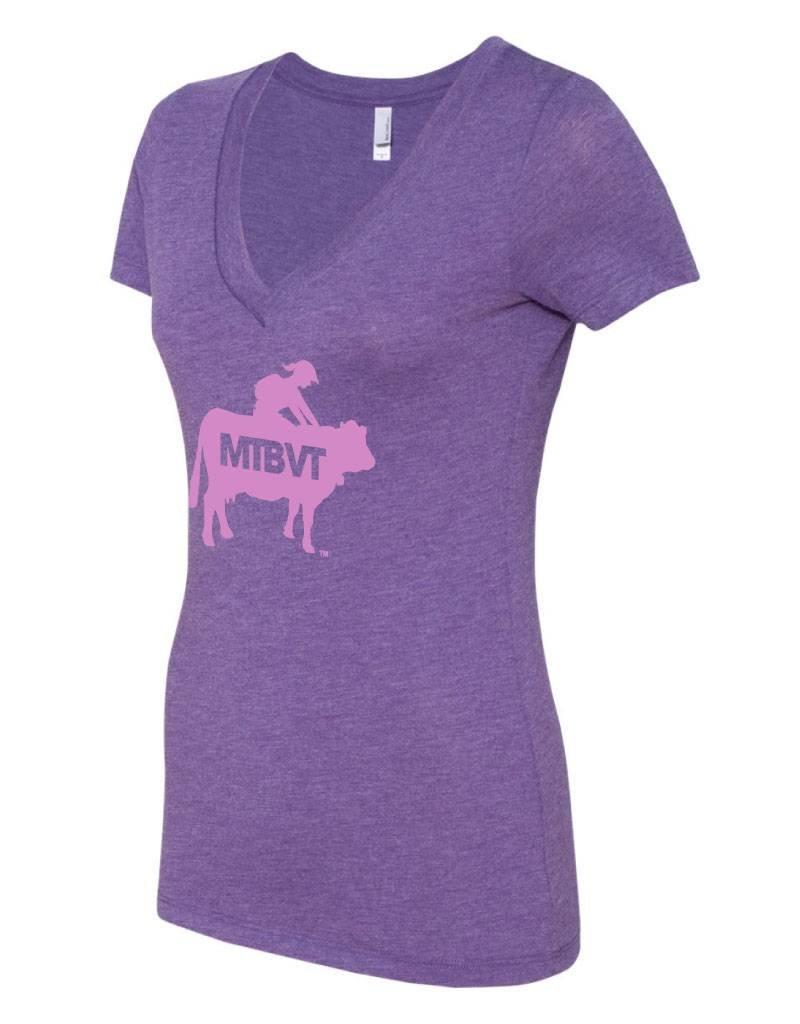 lady cow rider v neck