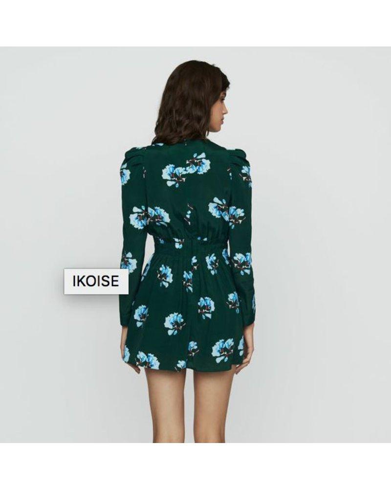 Green flowers Dress