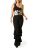 Emerging Designers Laila Black Jumpsuit With Ruffles