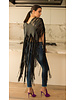 Andrea Landa Vivi Black Leather Fringe Vest