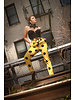 Belted Yellow and Black Polka Dot Pant