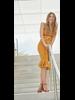 Jose Cuello Olayinka Mustard V Neck Top and Bolero Skirt Set with Belt - Size 8