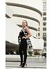 Shantall Lacayo Black & White Sleeveless Collar Coat with Buttons