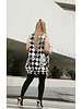 Shantall Lacayo VEST - Black & White Sleeveless Collar Coat with Buttons - Size M