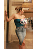 Emerging Designers Cindy Distressed Denim Skirt