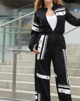 Vienna Black & White Jumpsuit  Size L