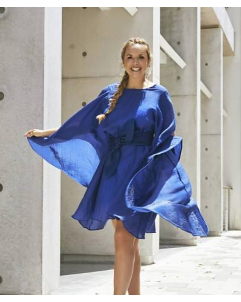 Emerging Designers DRESS - Claudia  With Flared Sleeves - Size