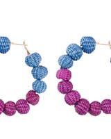 Tantra Iraca Woven Hoop Earrings