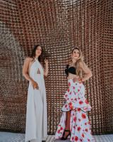 Siaro skirt with flowers, bolero, front opening, SIZE 8