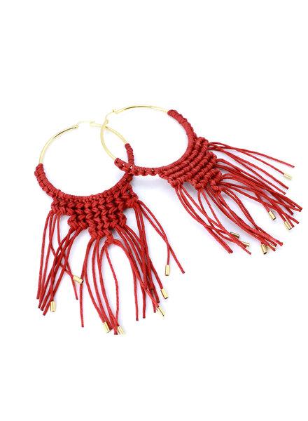Oropendola Amazonico Gold Plated Earrings