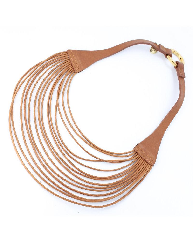 Lauren Leather Necklace