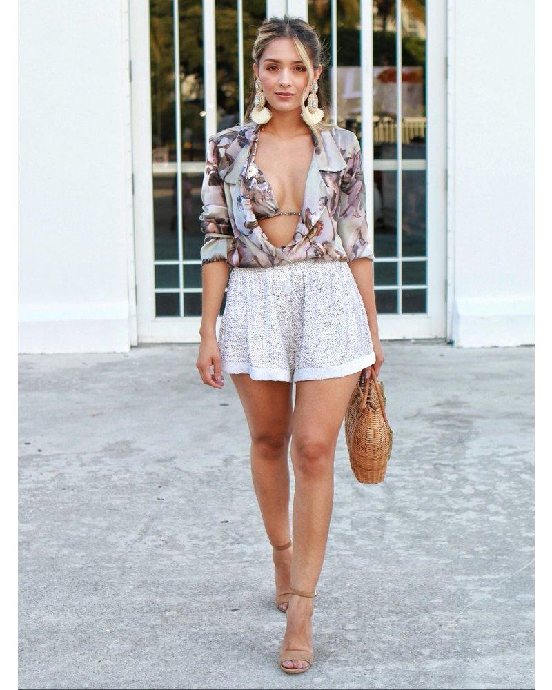 Emerging Designers Alexis White Sequin Shorts