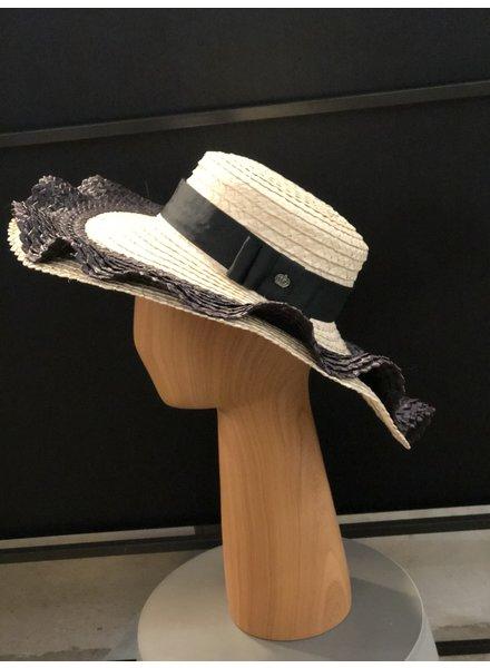 Margarita Diaz del Castillo Olas Hat Natural and Black