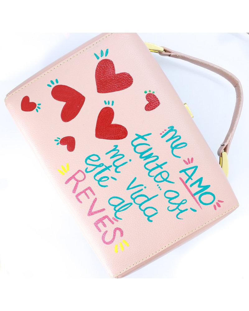 Jessi Caballero Box Bag Rattan/Leather/Velvet Beige