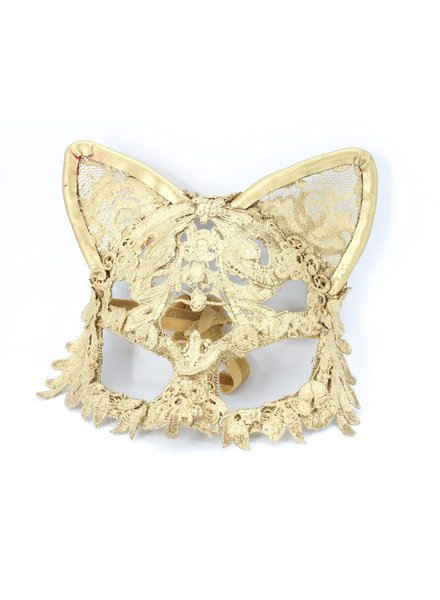 Anima Design Cat Mask lace gold