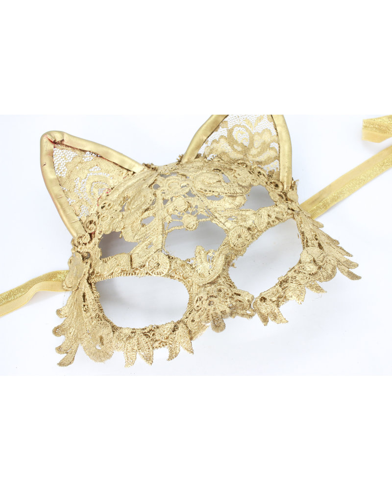 Anima Design cat mask lace gold