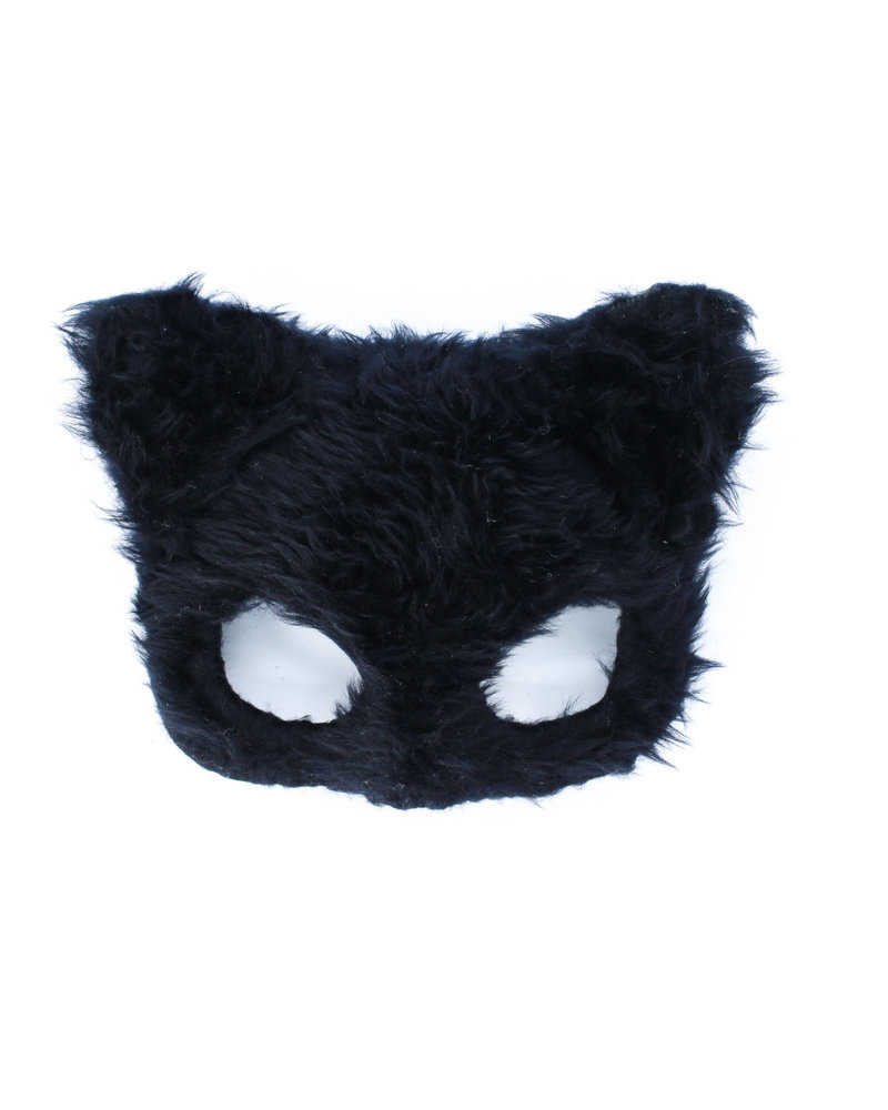 Anima Design Cat Mask Plush Black