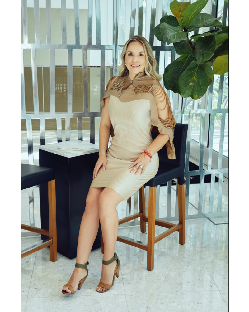 Andrea Landa VEST - Short Cut Leather Mini  Brown - One Size