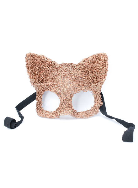 Anima Design Cat mask silicone gold rose