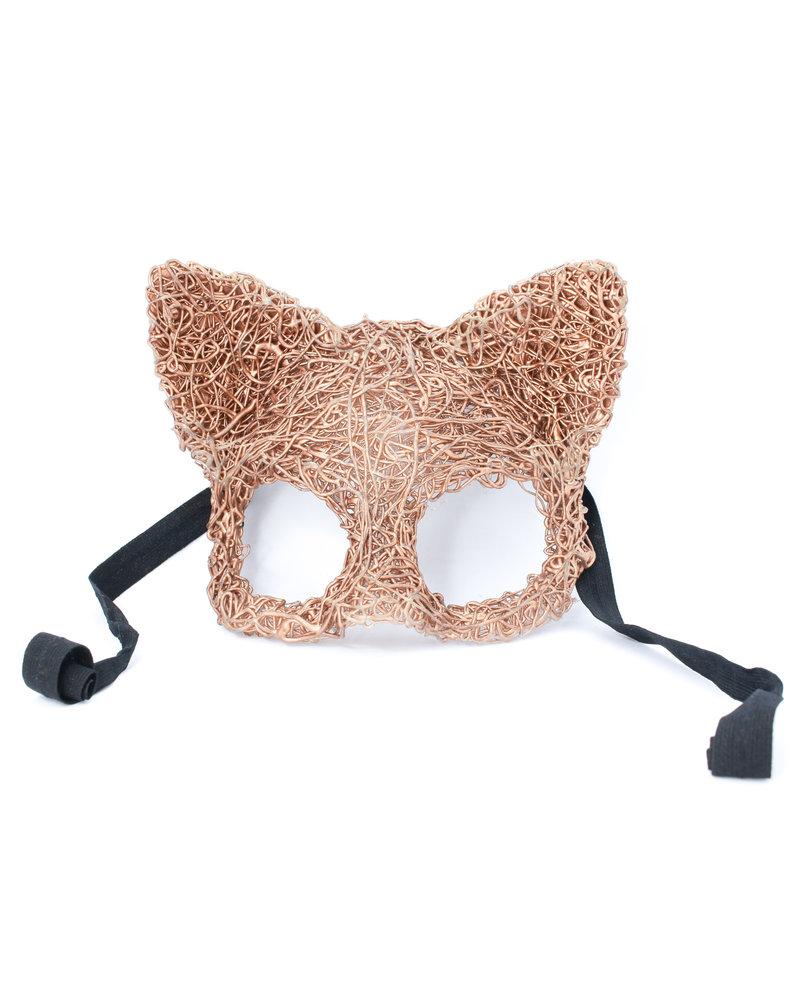 Anima Design Cat mask silicone gold rose
