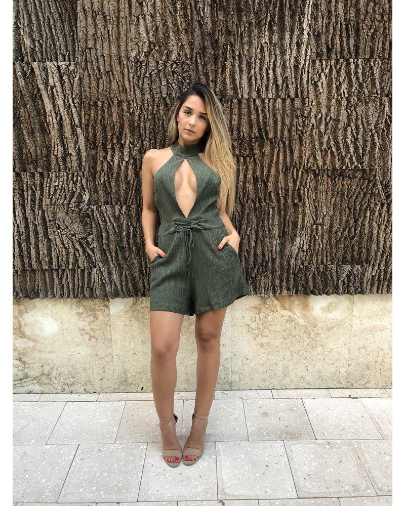 ROMPER - Adena Olive Green - Size L